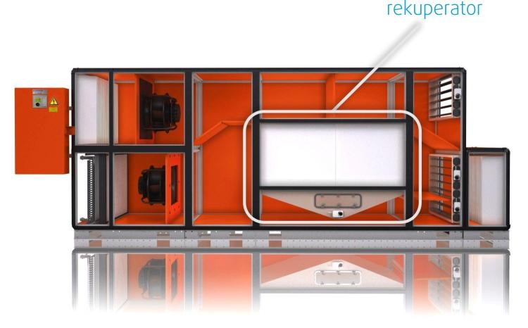 Rekuperator-v-klima-ventilacijski-komori-Menerga-Rekuperacija